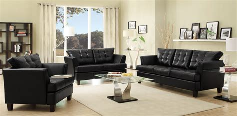 fabulous black living room designs black leather