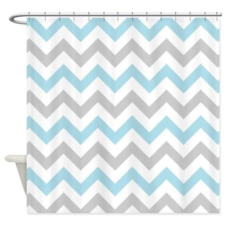 grey and blue shower curtain blue and grey chevron shower curtain by inspirationzstore