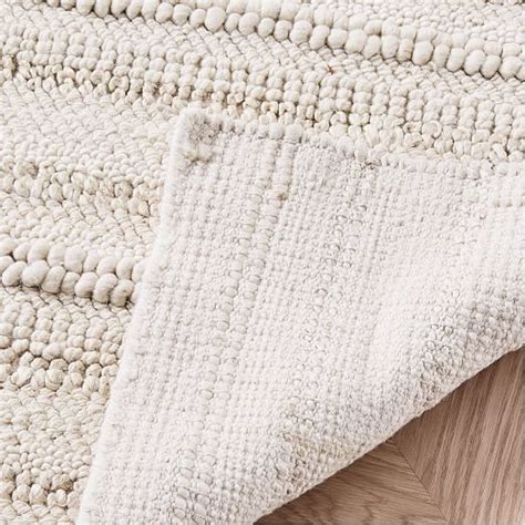 sweater rug stitched mix sweater rug ivory west elm
