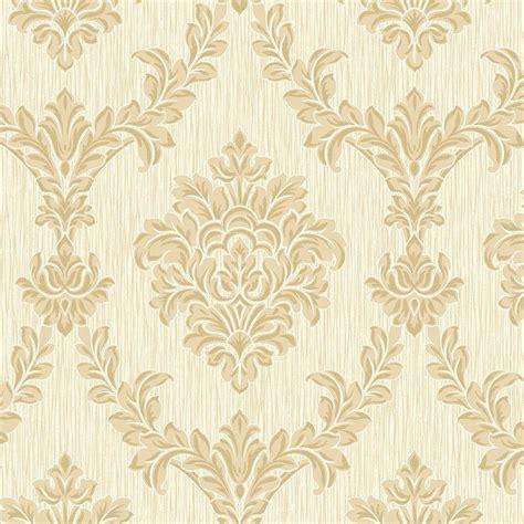 cream and brown pattern wallpaper fine decor richmond damask textured glitter wallpaper soft