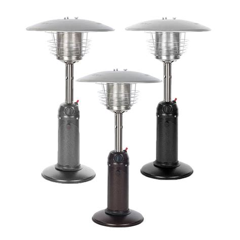 Table Top Patio Heaters Propane Table Top Patio Heater Garden Outdoor Propane Safety Heater Silver Black Ebay