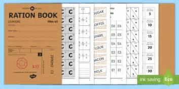 printable ration book template ration book booklet wartime recipe booklet wartime recipe