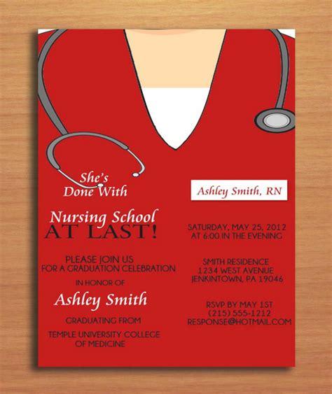 nursing graduation invitation templates free printable graduation invitation template