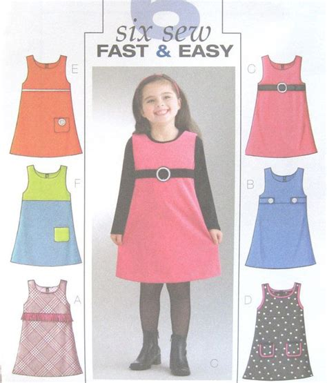 sewing pattern a line jumper childs girls a line jumper sewing pattern back zipper tab