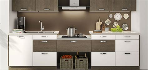 op16 m06 10 square meters straight line modern style white and wood grain i shaped kitchen cabinet oppeinhome com