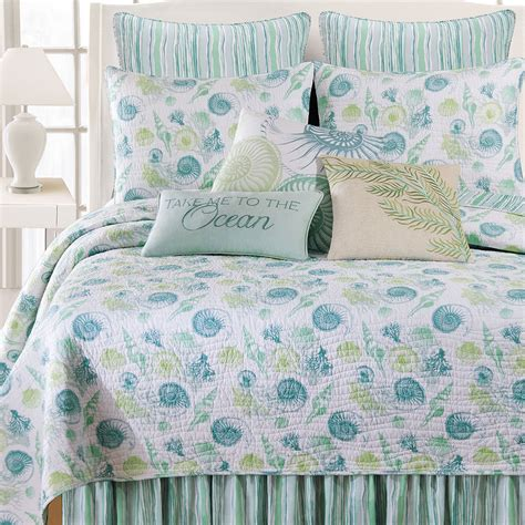 coastal coverlet st augustine coastal seashell quilt bedding