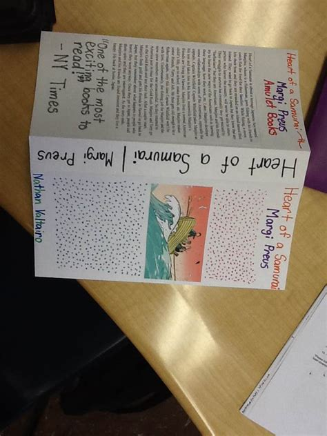 How To Make A Book Jacket With Paper - of a samurai book report nathan grade 8