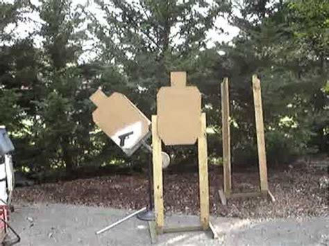 swinging target plans homemade swinging target stand youtube
