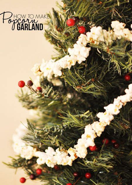 how to string popcorn on christmas tree going fashioned popcorn garland tutorial diy home decor tree