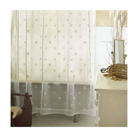 shell shower curtain ecru