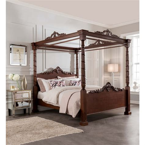 four poster bed lincoln four poster antique french style bed mahogany