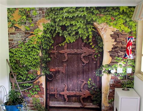 Self Adhesive Secret Garden Wallpaper Mural Secret Garden Wall