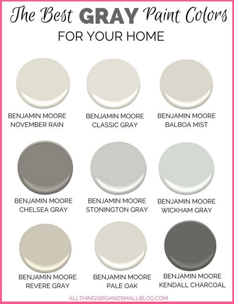 gray paint colors for your home best benjamin