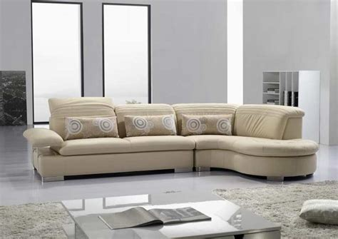 modern leather sofas and sectionals modern vg 125 cream leather sectional sofa leather