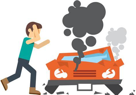 wrecked car transparent car crash cartoon pictures clipart best