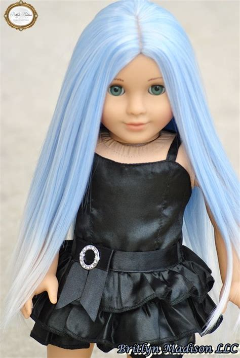 Doll Premium custom grace with an exclusive britlyn quot iced periwinkle quot premium doll wig custom