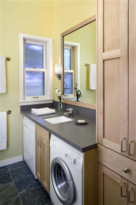 Bathroom Laundry Room Ideas Laundry In Bathroom Rustic Laundry Room San Francisco By Cathy Schwabe Architecture