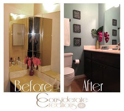 bathroom redo on a budget considerate creations refinishing a small bathroom on