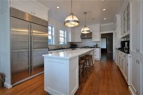 narrow kitchen island with seating at end seats underneath island no overhang narrow kitchen