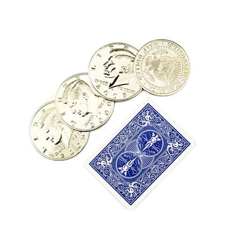 Coin Set By Cm 1 set 5 6cm diameter four coin to one big half dollar magic tricks props coin up stage