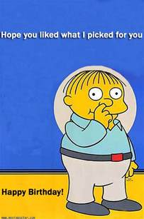 simpsons birthday card ralph wiggum appreciation
