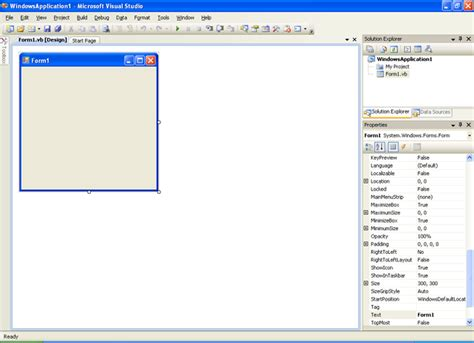 visual basic diagram integrated developement environment ide for vb net