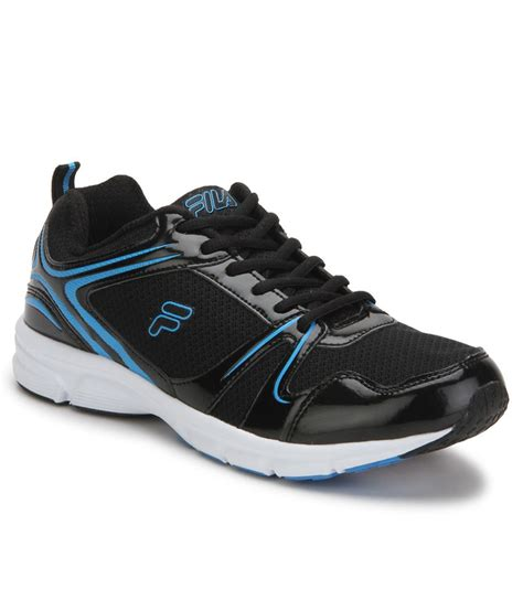fila sport shoes fila spinello black sports shoes price in india buy fila