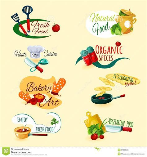 Cooking Emblems Set Stock Vector   Image: 51824505