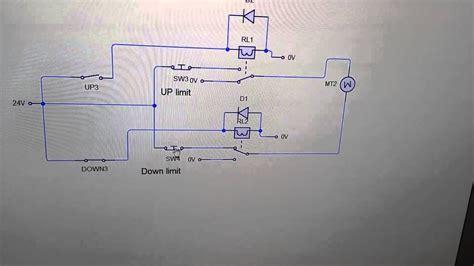reversing motor circuit  limit switches youtube