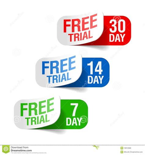 free trial free trial stock photography cartoondealer 35655206