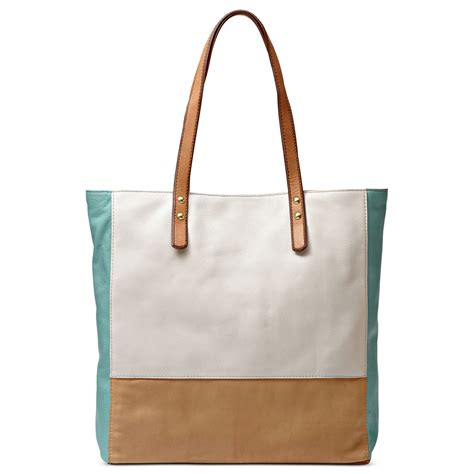 lyst fossil zoey leather tote