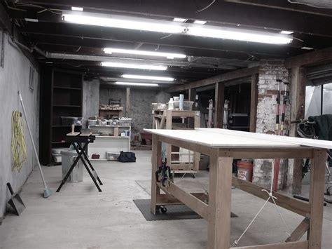 woodworking shop lighting workshop breenbush design