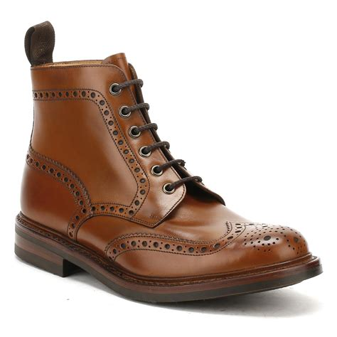 brogue boots sale lyst loake mens brown calf bedale brogue boots in brown