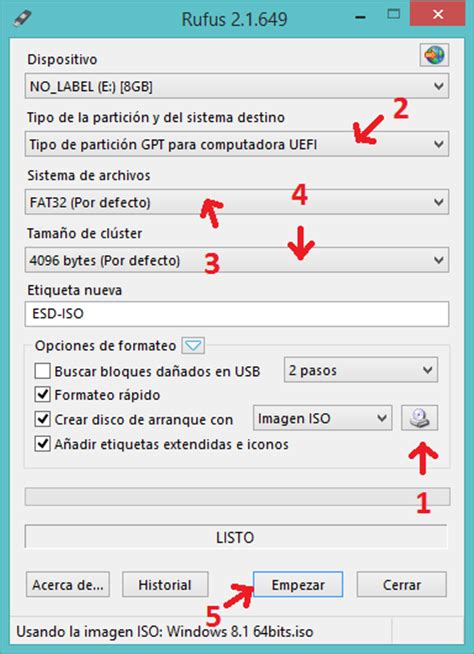 tutorial rufus 2 1 como crear un pendrive de windows 8 1 en modo uefi