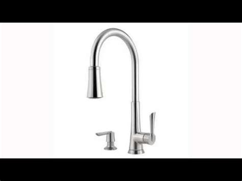 pfister glenfield stainless steel pull out kitchen faucet