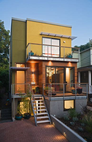 friendly house portland se urban small lot portland oregon modern house green infill project designed