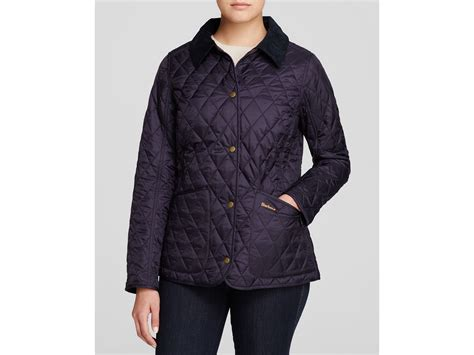 barbour annandale quilted jacket in blue lyst