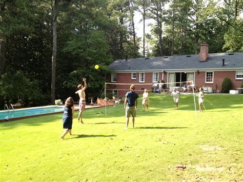 backyard volleyball atlanta engagement party