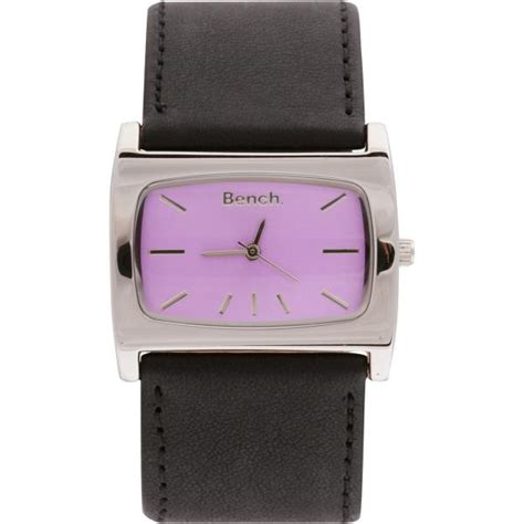 bench watches for women bench womens black strap purple dial watch clothing