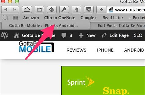 how to clip a webpage to onenote on ios devices