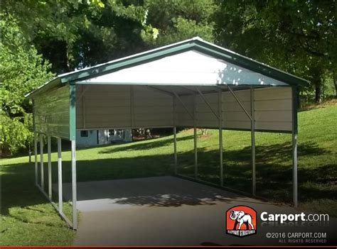 Single Car Port by Single Car Carport 12 X21 With Vertical Roof Shop Metal Carports