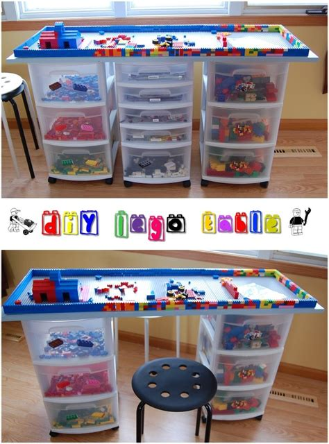 lego table with drawers diy diy lego table paint brushes kitchen drawers and brushes