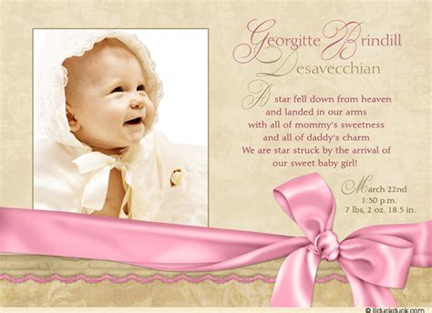templates for birth announcements for a baby girl birth announcements for baby girl birth announcements