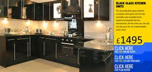 black gloss kitchens cabinets units doors uk
