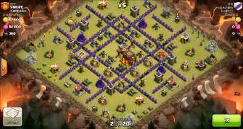 Clash of clans th10 vs th10 golem wizard witch pekka gowiwipe clan war