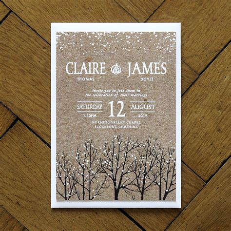 Einladung Hochzeit Winter by Winter Snow Wedding Invitations And Save The Date By Feel