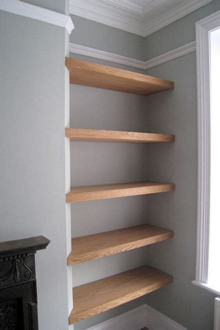 oak floating shelves sq1 commissions pinterest