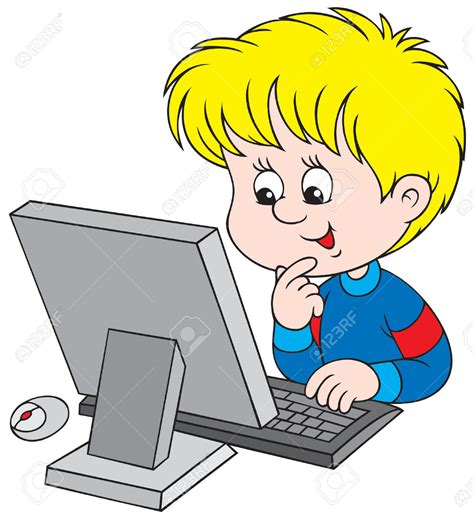computer clipart boy on computer clipart 35
