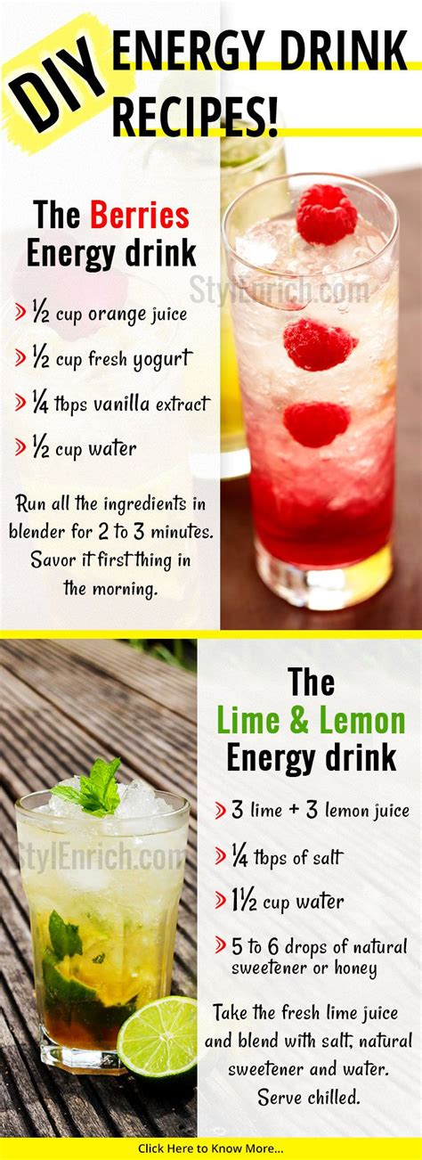 energy drink recipes best energy drink for