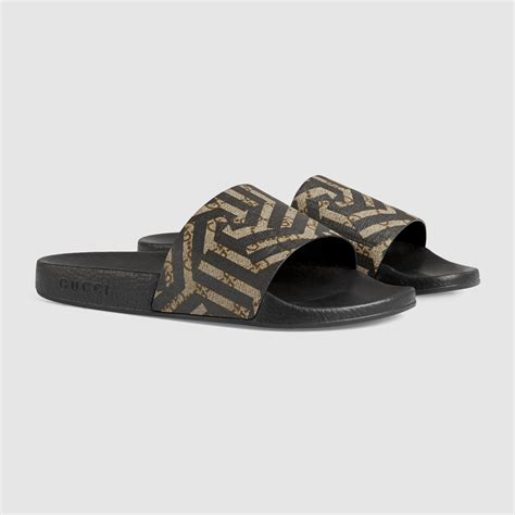 Sandal Slop Gucci Tagbox Gucci gucci gg caleido sandal in black for lyst